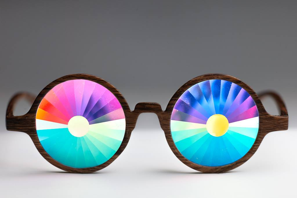 Wood Portal Kaleidoscope Glasses