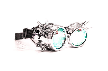 Chrome Spike Kaleidoscope Goggles - SuperFried