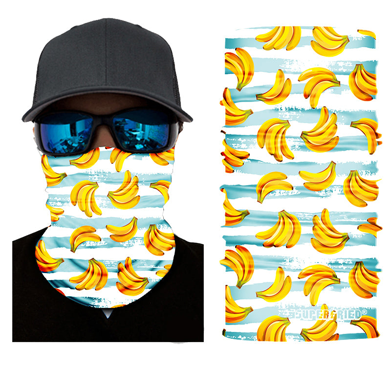 yellow banana fruit summer face mask bandanna