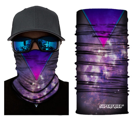 Bermuda triangle lucid galaxy purple face mask bandanna