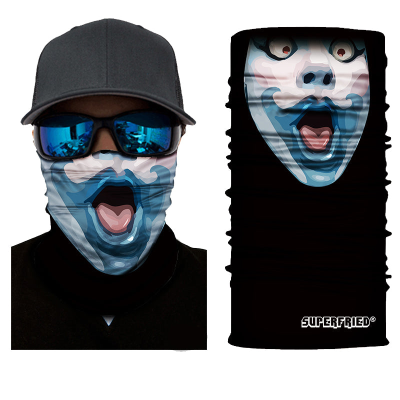 Blue Mime Face Mask Bandana - SuperFried