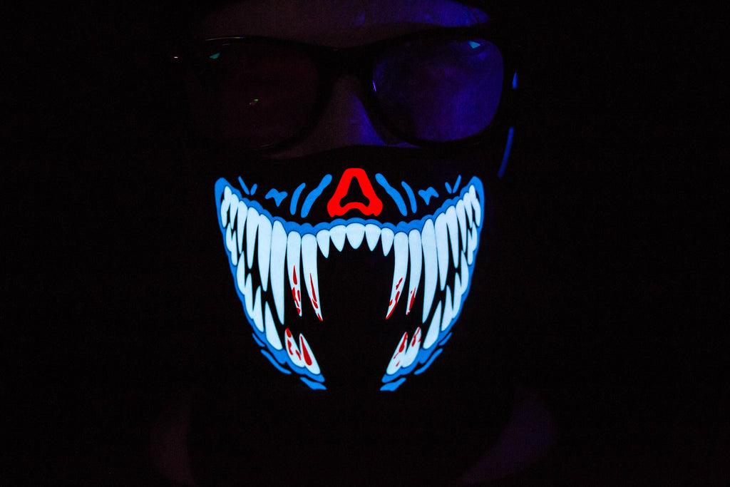 Blue Penny LED Light up Panel Mask - SuperFried