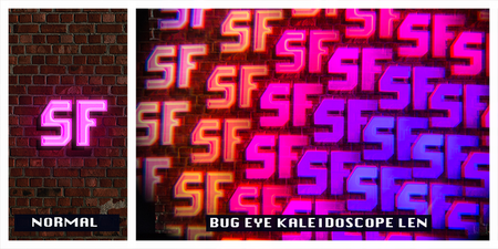 Black Bug Eye Kaleidoscope Glasses - SuperFried
