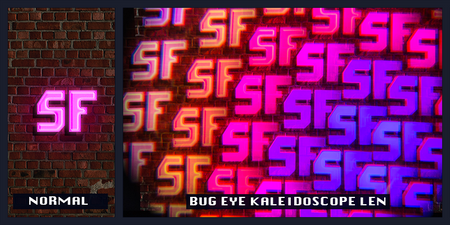 bug eye prism kaleidoscope len intense visuals effects