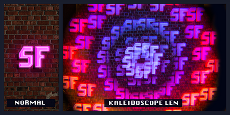 Black Kaleidoscope Glasses - SuperFried