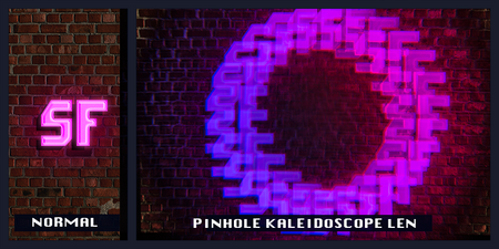 Black Pinhole Kaleidoscope Glasses - SuperFried