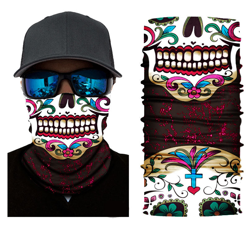 Calavera Rave Face Mask Bandana - SuperFried