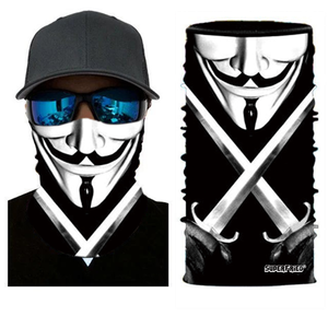 Comic Anonymous Face Mask Bandana