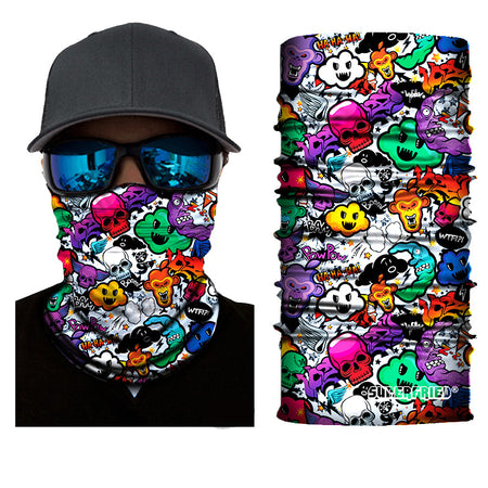 graffiti comic icons artwork face mask bandana