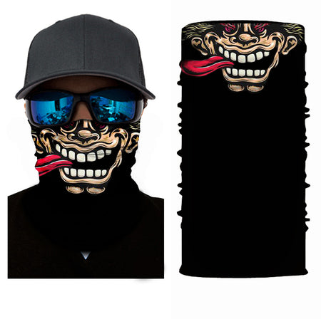 Crazy ed silly whack face mask bandana