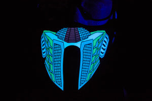 CyberTron LED Light up Panel Mask - SuperFried