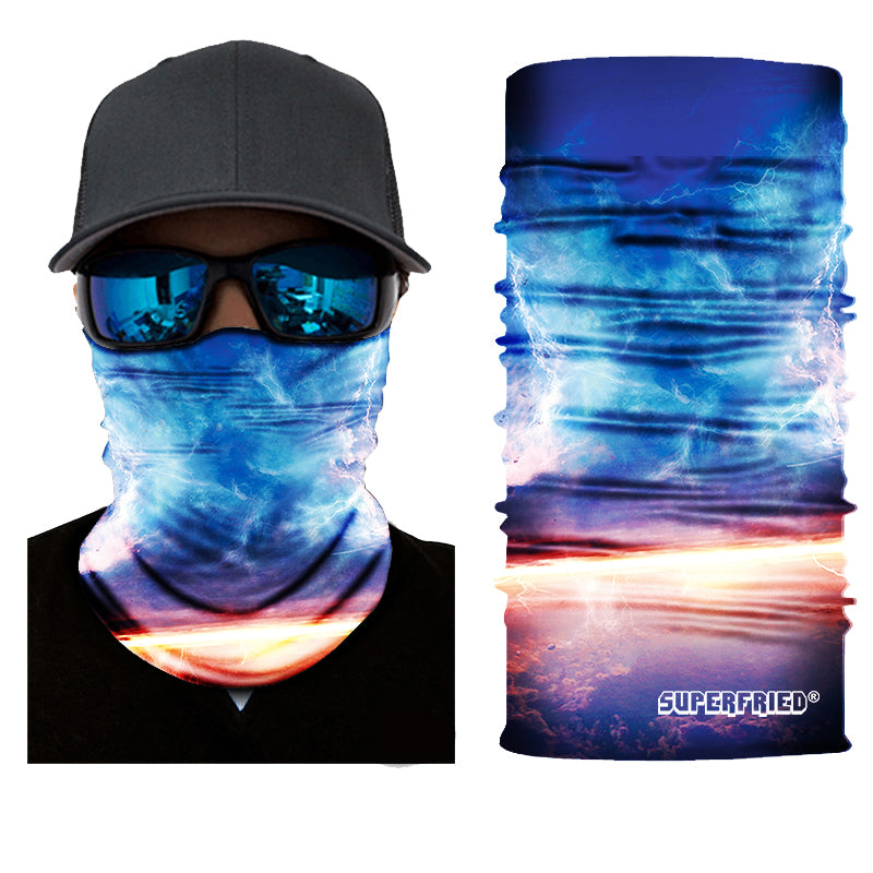dawn astro galaxy sky face mask bandanna