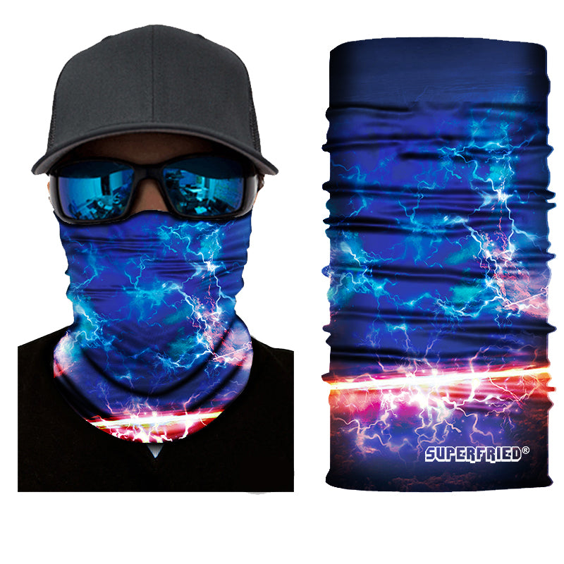 Electric Sky Rave Face Mask Bandana - SuperFried