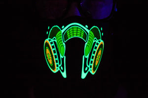 Electro Gas LED Light up Panel Mask - SuperFried