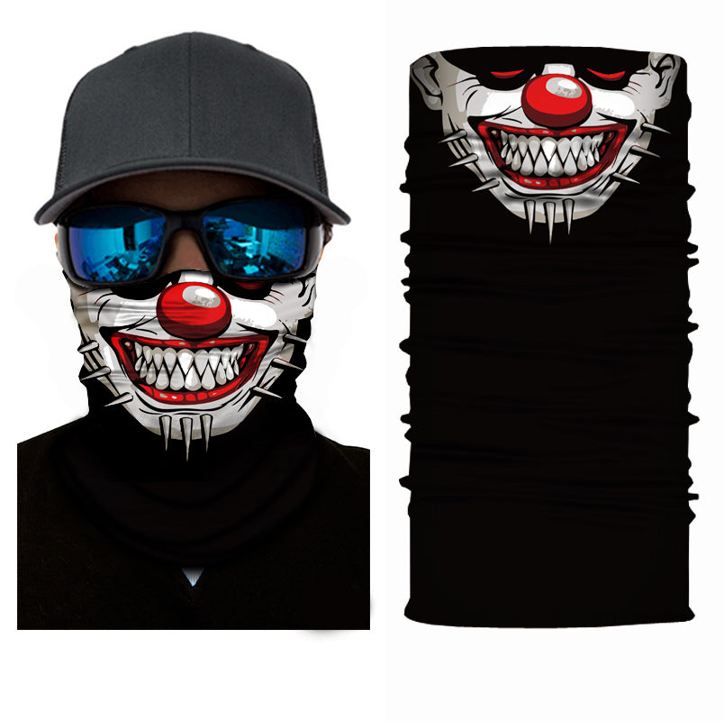 Punk Bozo Clown Rave Face Mask Bandana - SuperFried