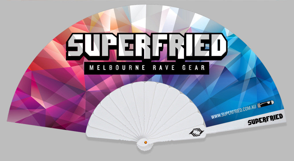 superfried foldable hand held fan hot summer cool cooling