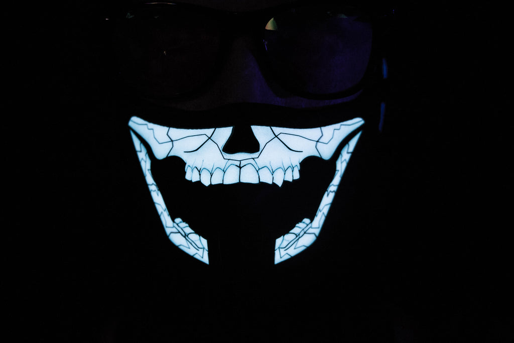 Gacked Skull LED Light up Panel Mask - SuperFried