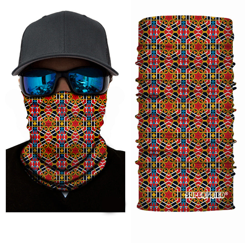 Geometrix Rave Seamless Mask Bandana