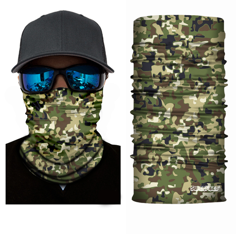 Green Camo Leaf Seamless Mask Bandana