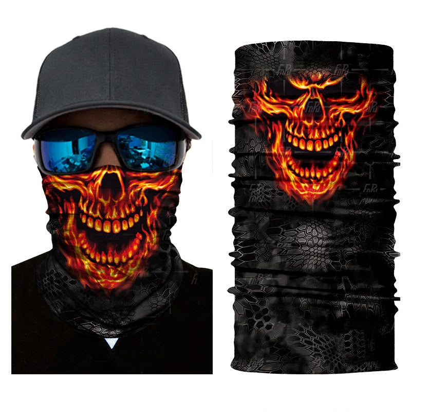 Ghost Rider Rave Face Mask Bandana - SuperFried