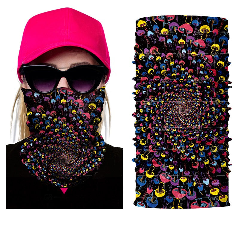 Shrooms Rave Face Mask Bandana - SuperFried