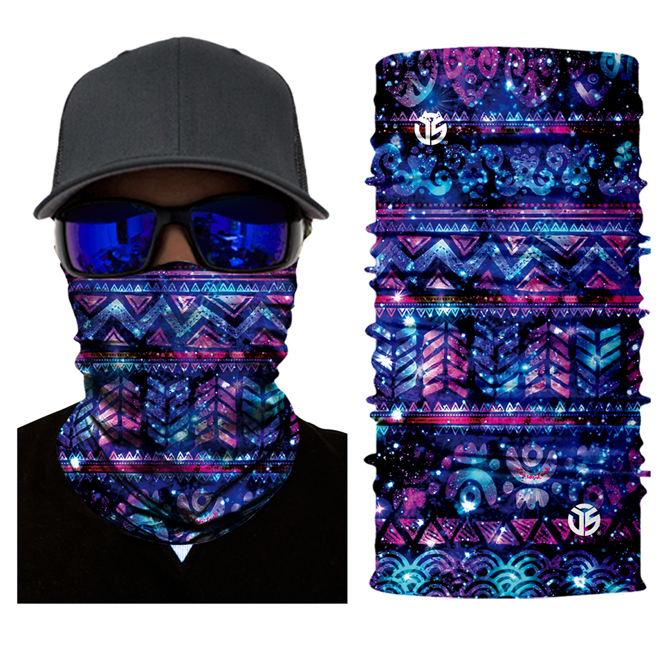 Galactic Aztec Rave Face Mask Bandana - SuperFried