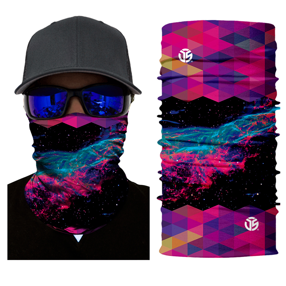 Kaleidoscopic Way Rave Face Mask Bandana - SuperFried