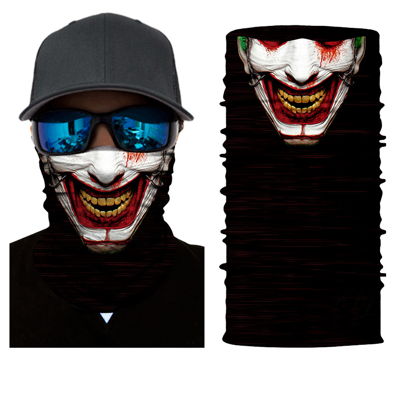 Smiling Joker Rave Face Mask Bandana - SuperFried