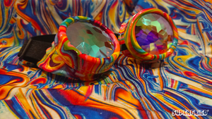 Acid Melt Kaleidoscope Goggles