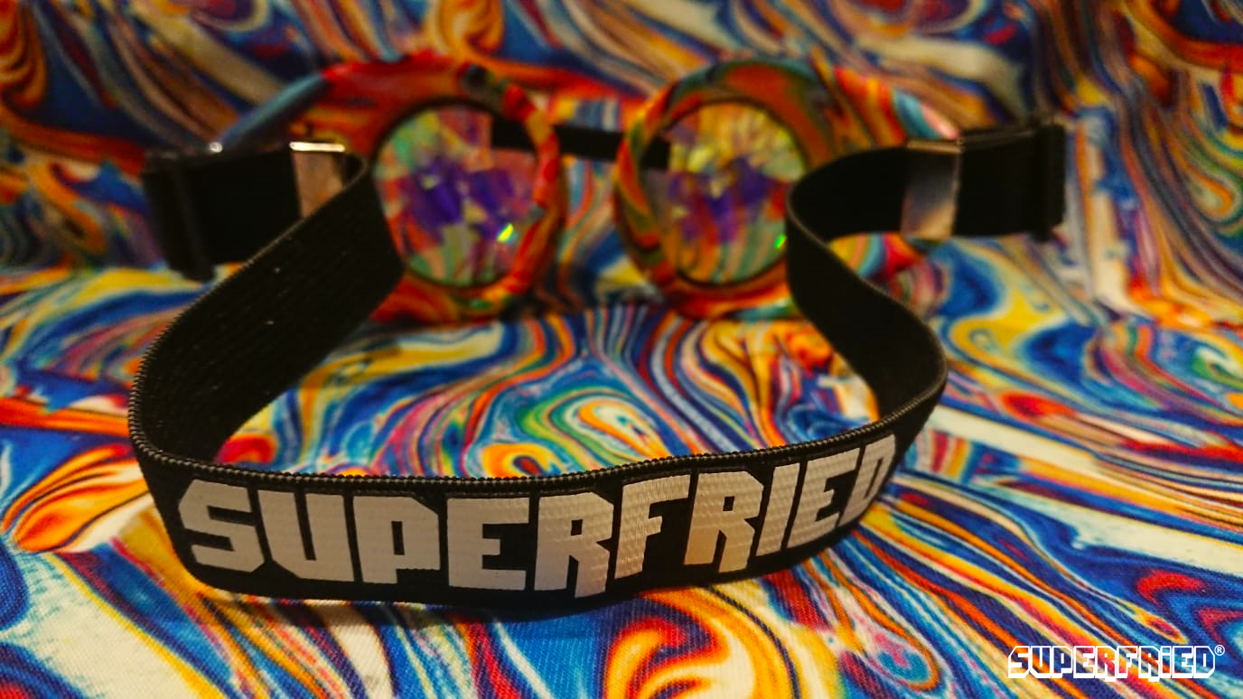 Acid Melt Kaleidoscope Goggles - SuperFried