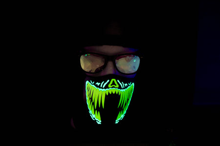 Green Penny LED Light up Panel Mask - SuperFried