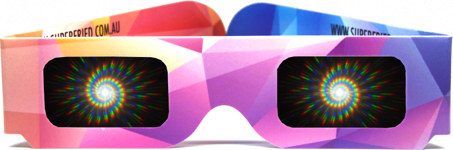 spiral diffraction glasses