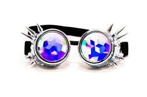 Intense Diamond Kaleidoscope Effect rainbow crystal lens round goggles  Sunglasses Women Men Party Festival  Glasses goggles at SuperFried's Festival Accessories and Sunglasses Online store