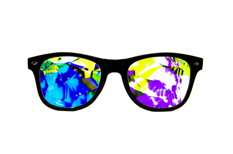 helvetica wayfarer kaleidoscope prism glasses intense psychedelic visual effects