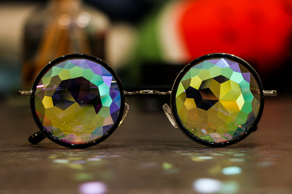 Intense Rainbow Kaleidoscope Effect rainbow crystal lens Sunglasses Women Men Party Festival  Glasses at SuperFried's Festival Accessories and Sunglasses Online store