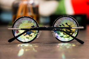 Round Sunglasses with Kaleidoscopic vision effect