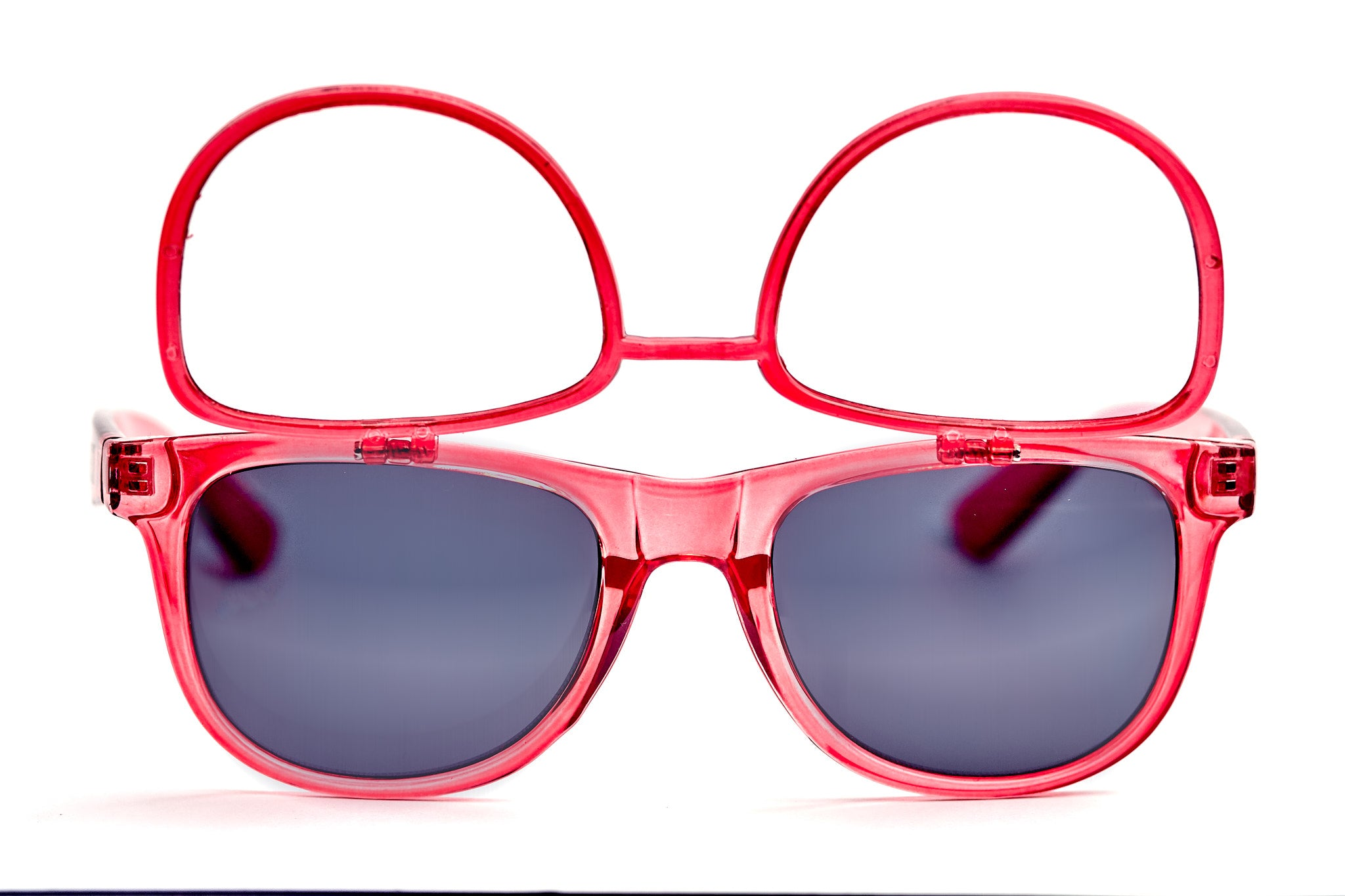 Transparent Red Firework Flip Up Diffraction Glasses