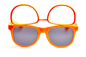 Orange Firework Flip Up Diffraction Glasses