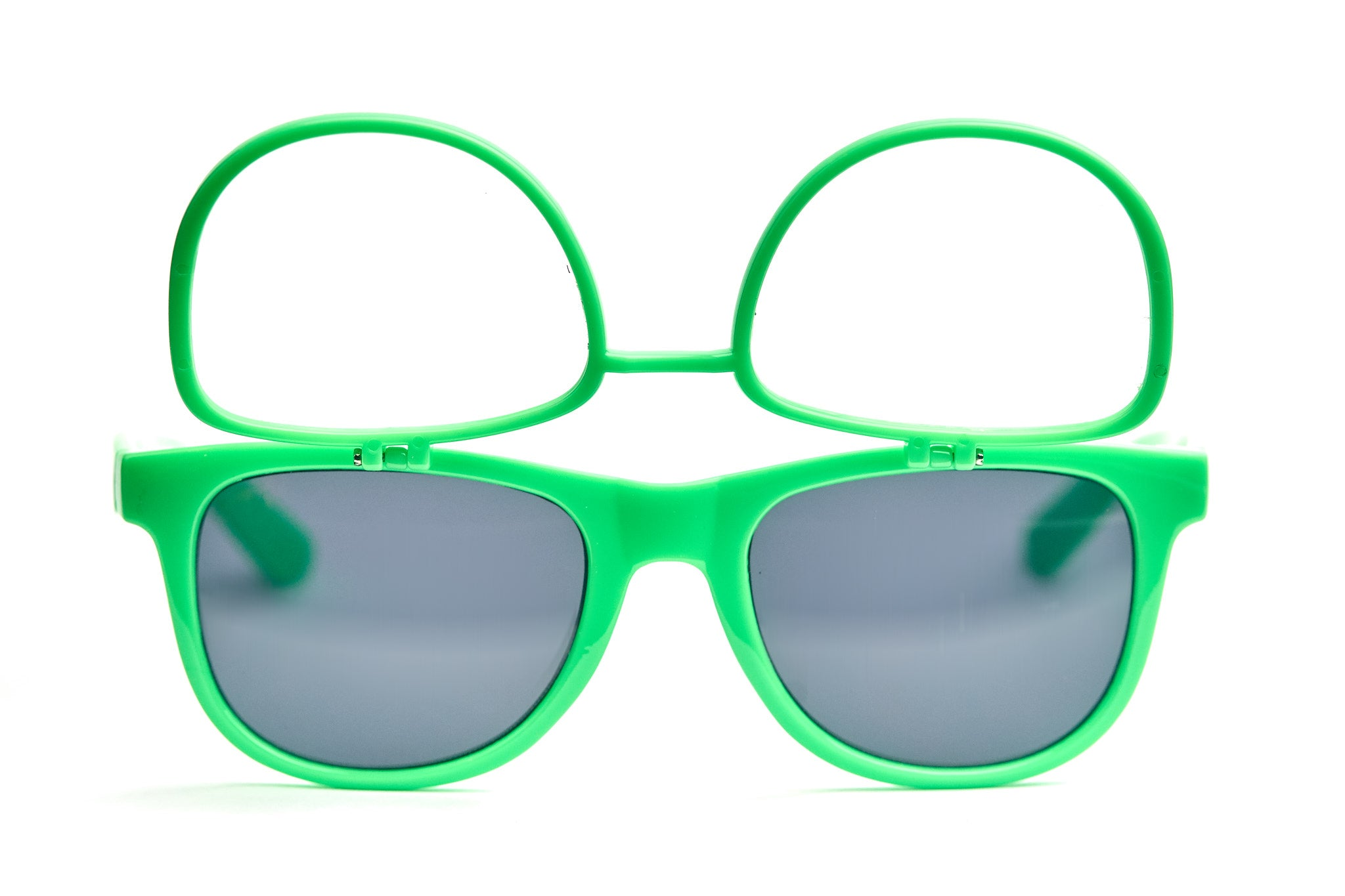 Green Firework Flip Up Diffraction Glasses - SuperFried