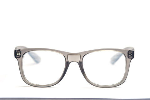 Matte Grey Firework Diffraction Glasses