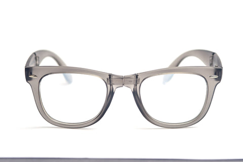 Matte Grey Firework Foldable Diffraction Glasses