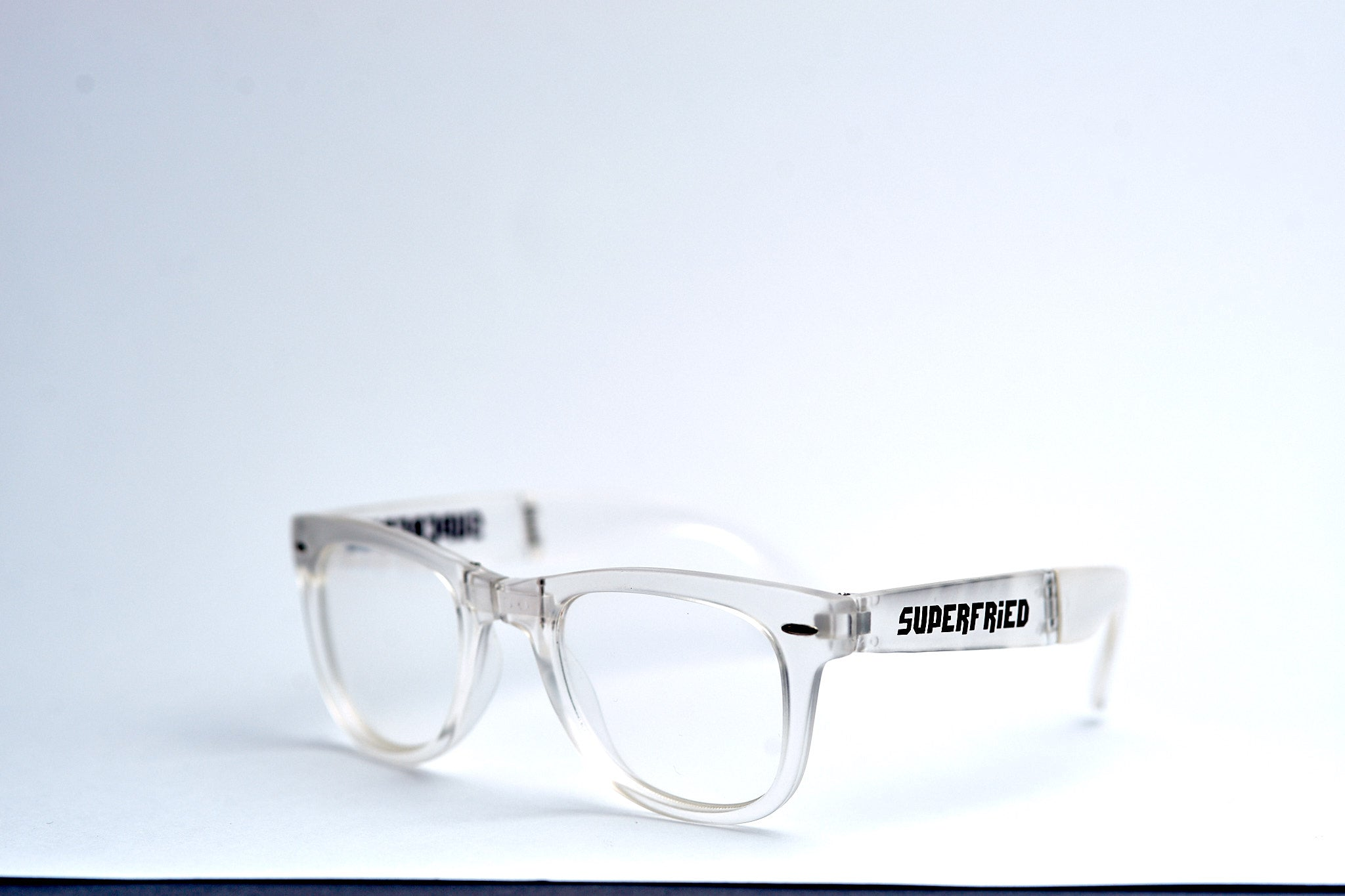 Matte Transparent Spiral Foldable Diffraction Glasses - SuperFried