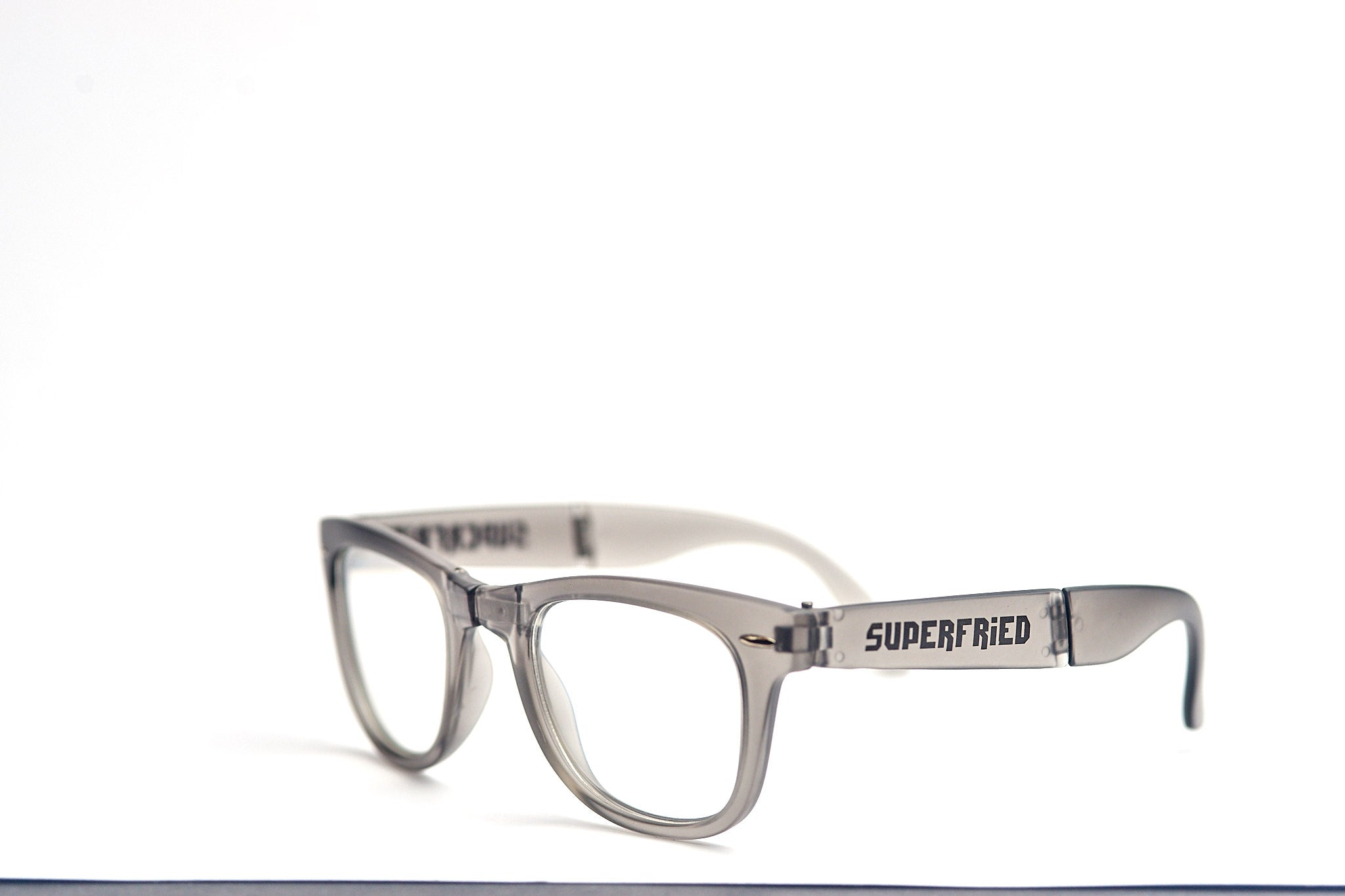 Matte Grey Firework Foldable Diffraction Glasses - SuperFried