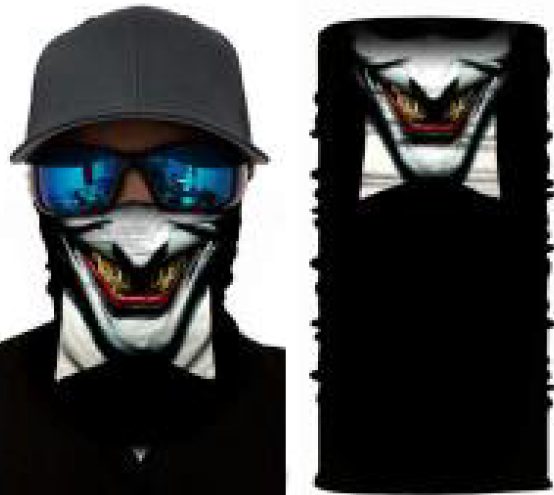 Laughing Joker Rave Face Mask Bandana