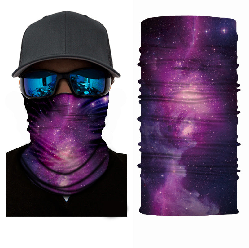 midnight lucid purple galaxy face mask