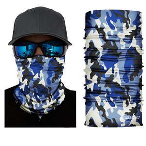 Navy Camo Leaf Seamless Mask Bandana