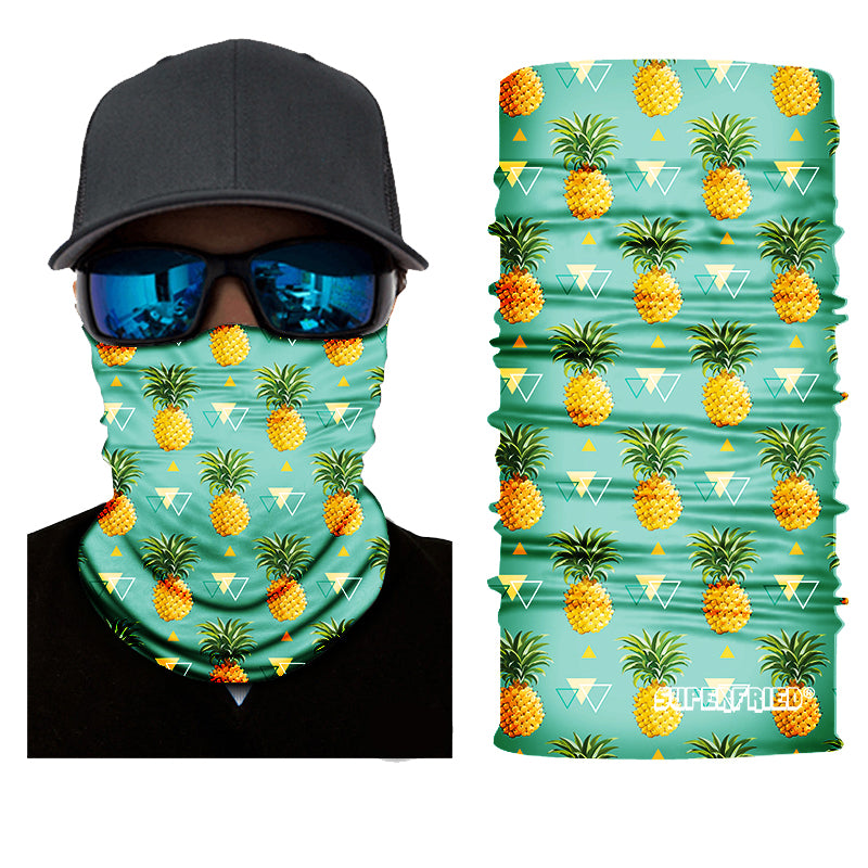 Pineapple Rave Face Mask Bandana - SuperFried