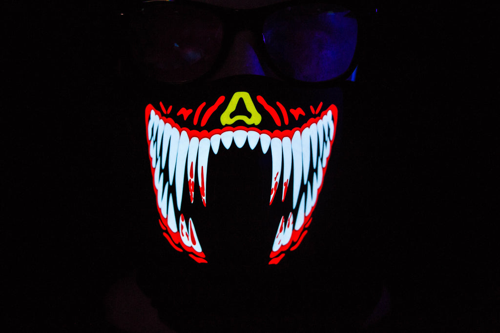 Red Penny LED Light up Panel Mask