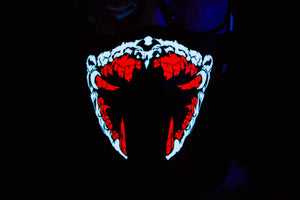 Red Spawn LED Light up Panel Mask