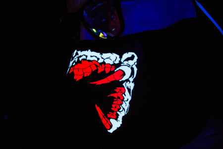 Red Spawn LED Light up Face Mask